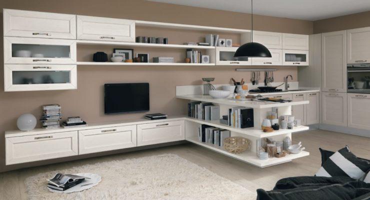 Cucina e living in un'unica composizione da lube | Sarracino Mobili